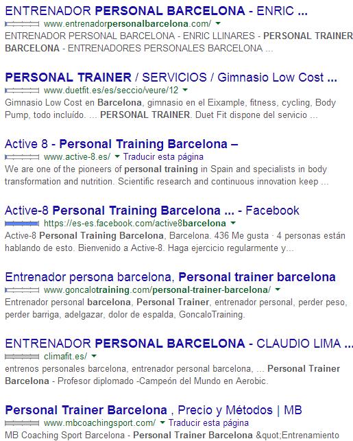 personal trainers en barcelona