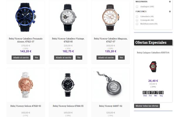 SEO para vender relojes